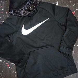 Nike big swoosh embossed dri-fit therma hoodie